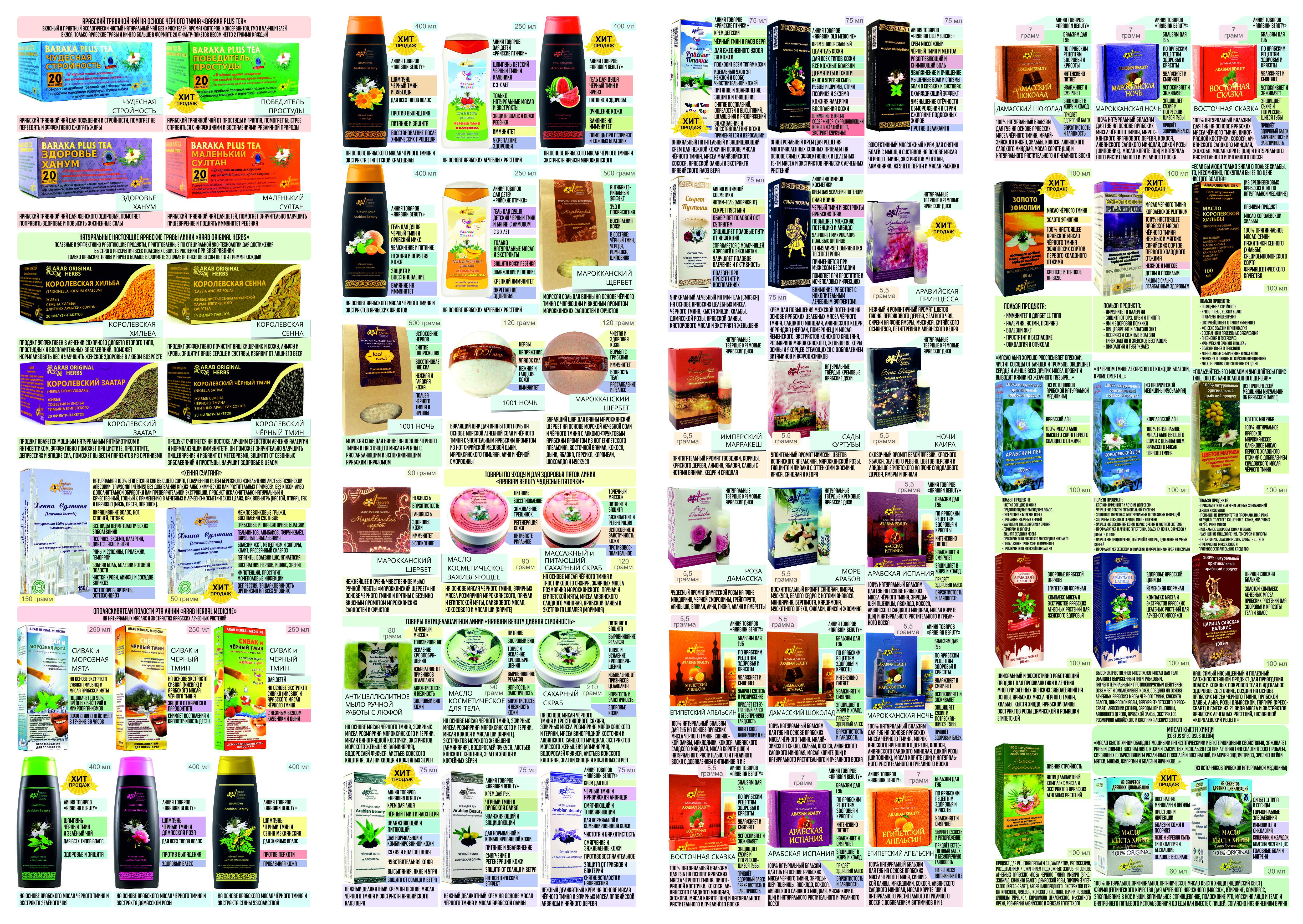 Карманный каталог Arabian Secrets обратная сторона